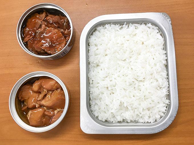 レスキューフーズ 白いごはん・鶏肉うま煮・こけし肉大和煮