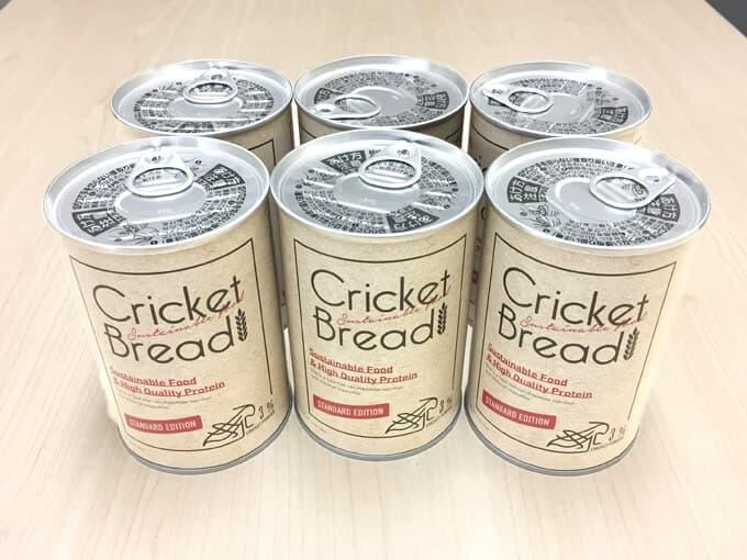 コオロギ粉末入りの缶詰パン