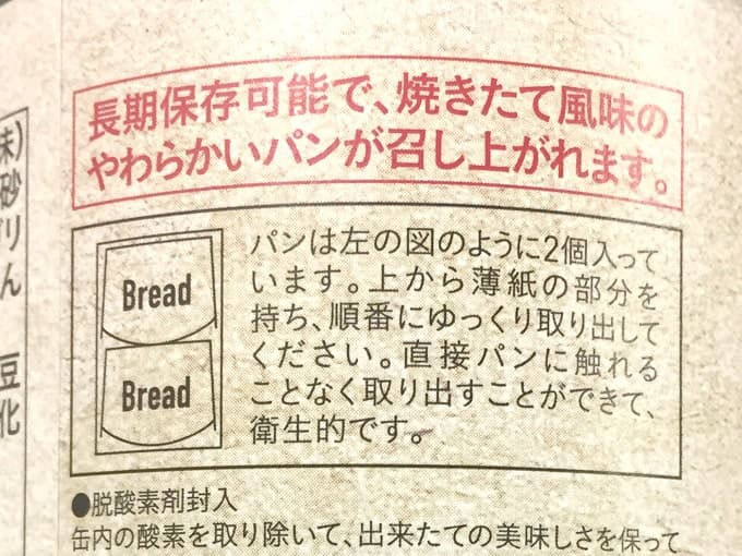 パンが上下逆さに入っている図