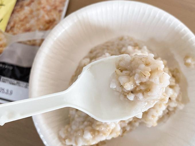 玄米がゆのアップ