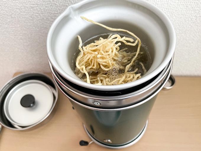 麺屋優光 × IZAMESHIの麺をアルポットで調理