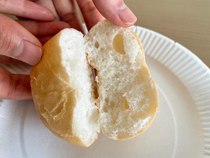 おにしの米粉パンを割ってみたところ